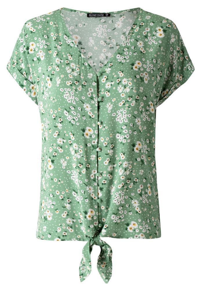 Basic-Bluse mit Knopfleiste