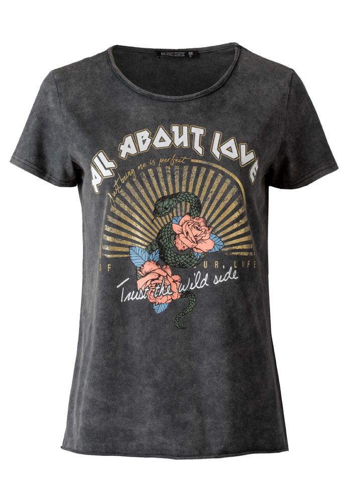 Shirt mit Schriftzug-Print