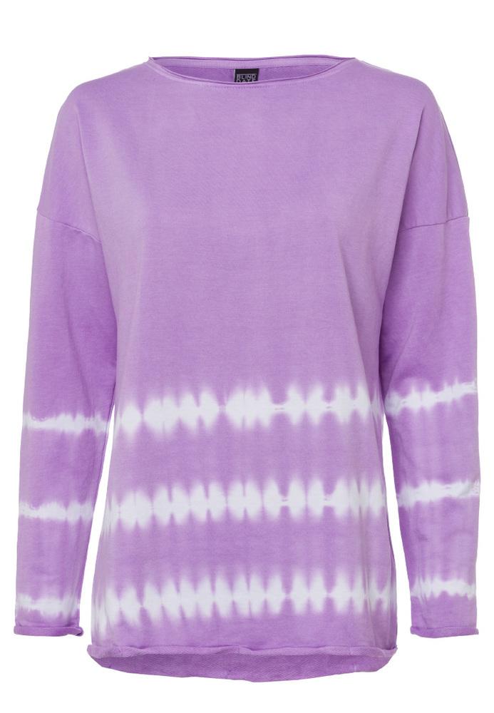 Sweatshirt mit Batik-Elementen