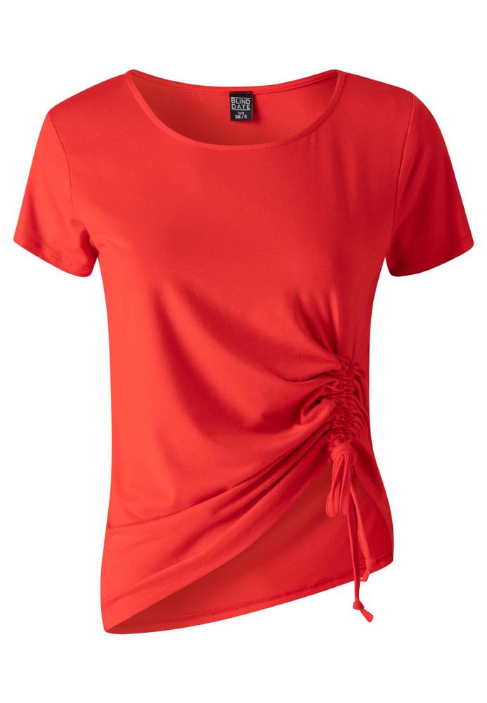 Shirt mit einseitiger Raffung