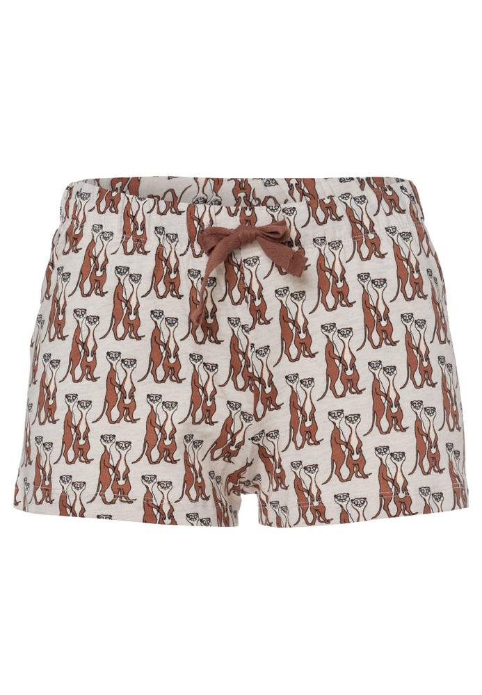 Pyjama-Short mit All-Over-Print