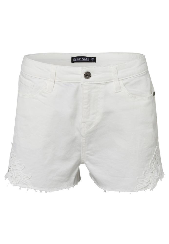 Jeans-Shorts mit Spitze