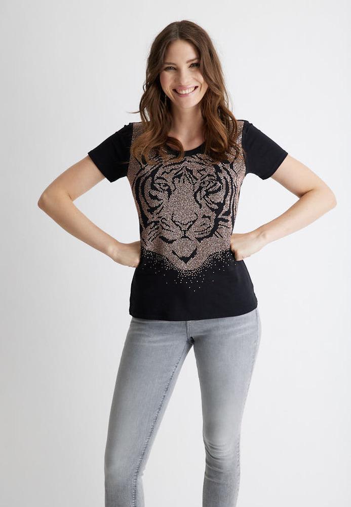 Shirt mit Nietenbesatz