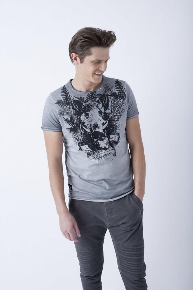 T-Shirt mit Front-Print