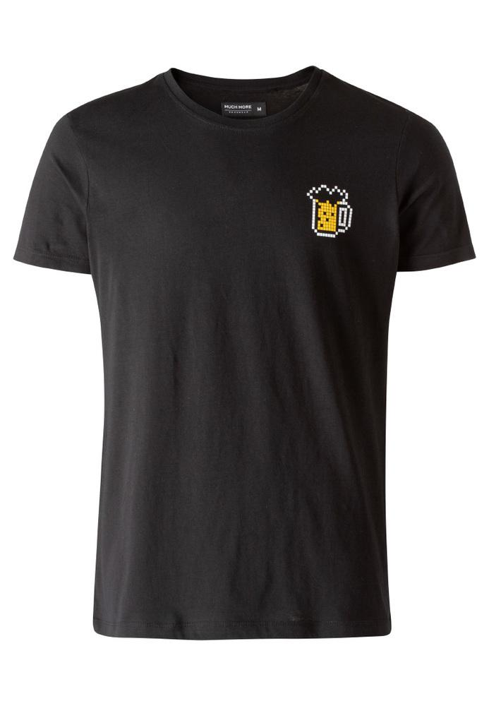T-Shirt mit Bier-Print
