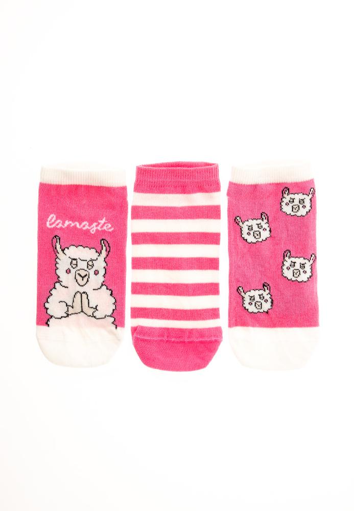 Sneaker-Socken mit Lama-Motiven