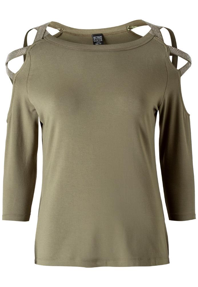Shirt mit Glitzerschnürung