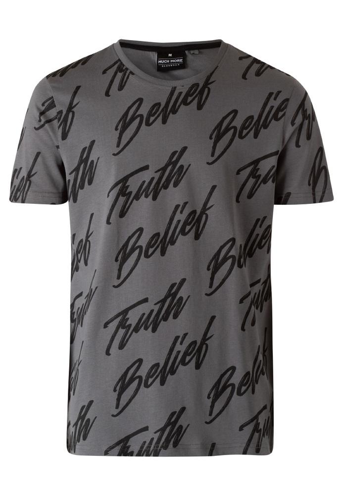 T-Shirt mit All-Over-Schriftzug