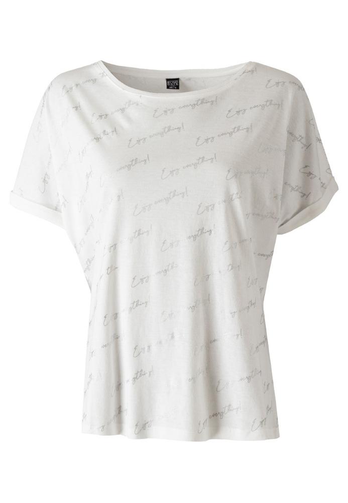 Shirt mit All-Over-Schriftzug