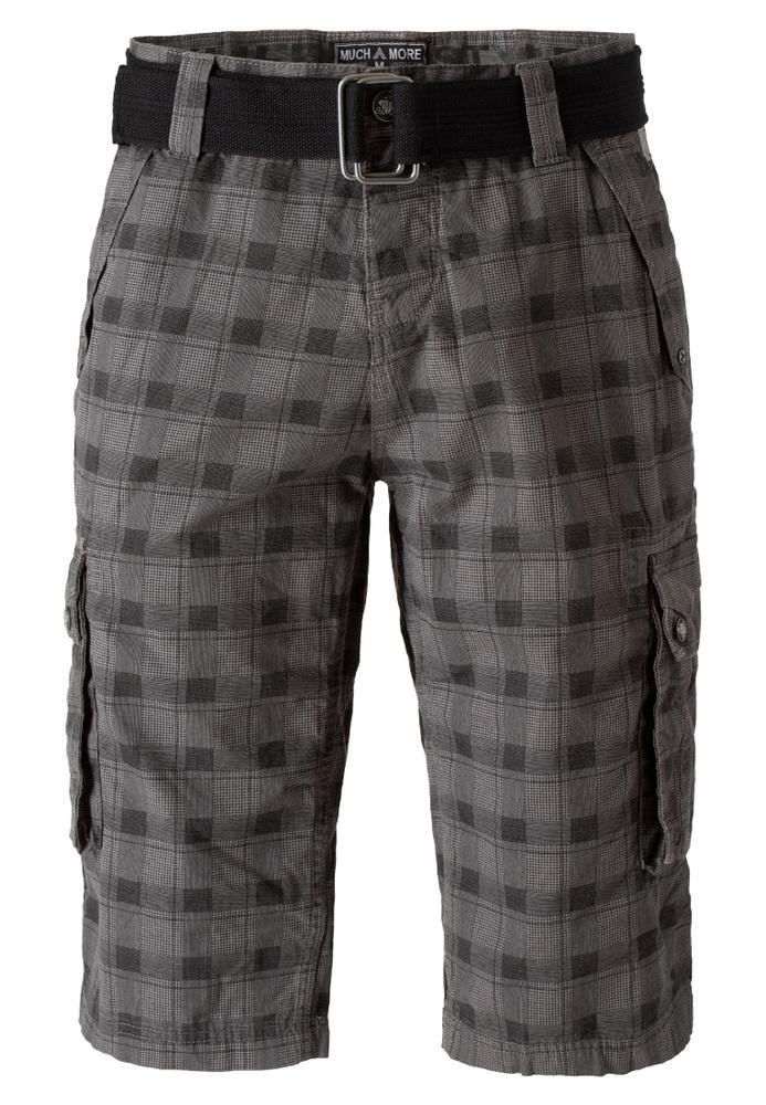 Cargo-Shorts mit Glencheck-Muster