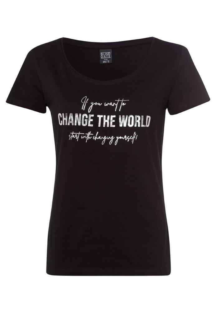 Shirt mit Folien-Print