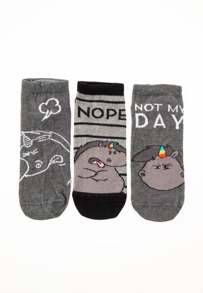 Grummeleinhorn-Socken, 3er Pack