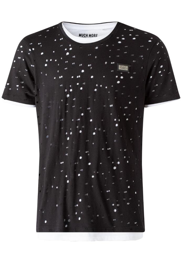 T-Shirt in Destroyed-Optik