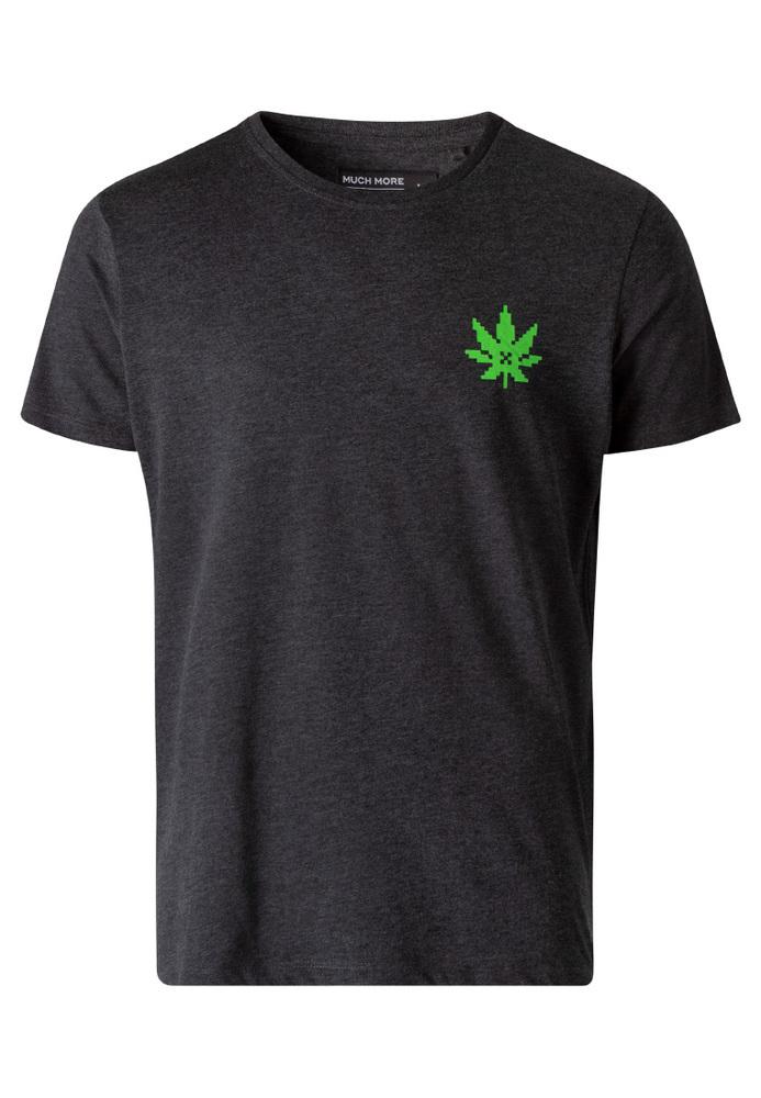 T-Shirt mit Weed-Print
