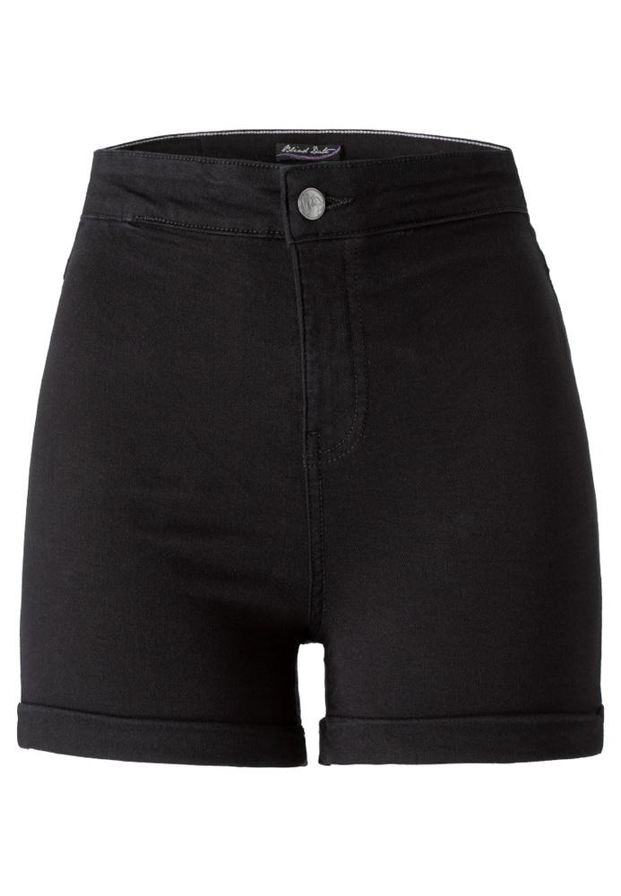 High Waist Jeans-Shorts